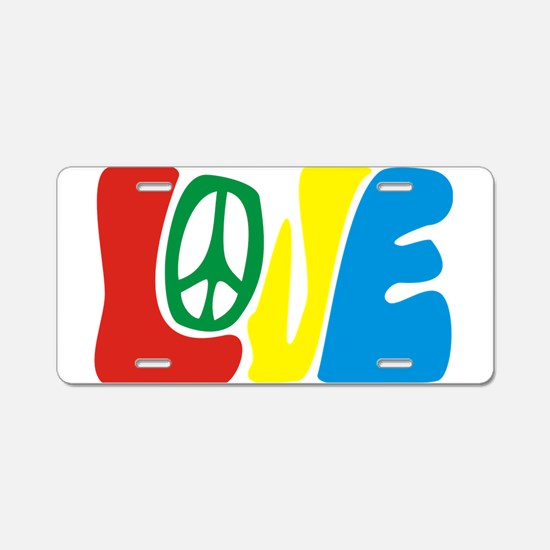 lovePeace Aluminum License Plate