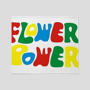 flowerPower Throw Blanket