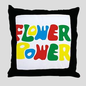 flowerPower Throw Pillow