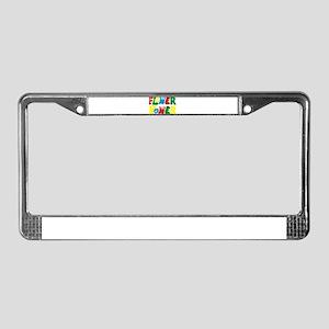 flowerPower License Plate Frame