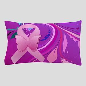 Pink Awareness Ribbon Pillow Case