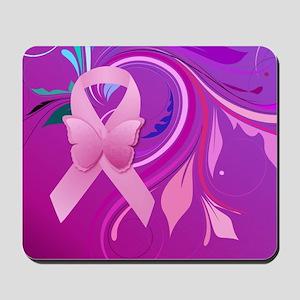 Pink Awareness Ribbon Mousepad