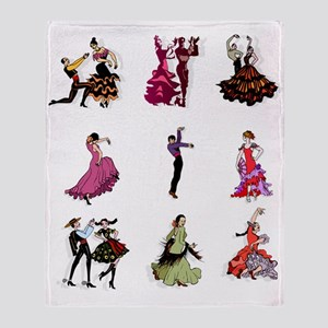Flamenco Spanish Dancing Throw Blanket