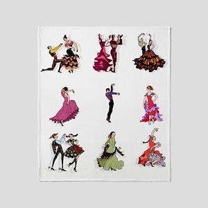 Flamenco Spanish Dancing Throw Blanket