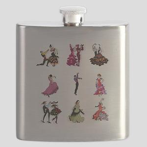 Flamenco Spanish Dancing Flask