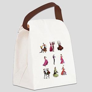 Flamenco Spanish Dancing Canvas Lunch Bag