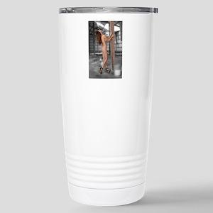 Beautiful Nude Brunette Stainless Steel Travel Mug