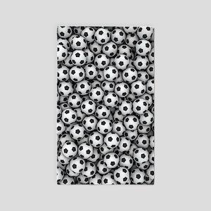 Soccer Balls Area Rug