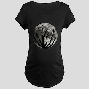 Halloween Moon Maternity Dark T-Shirt