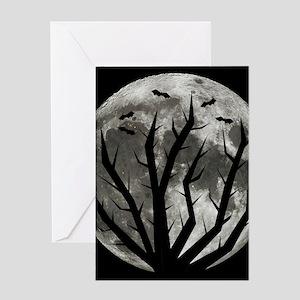 Halloween Moon Greeting Card