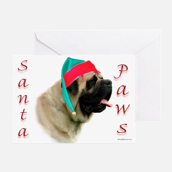 Santa Paws fawn2 Greeting Card