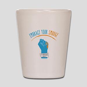 Smudge Blue Shot Glass