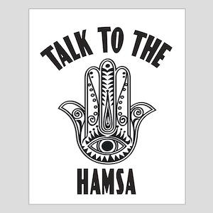 Talk To The Hamsa Poster Design