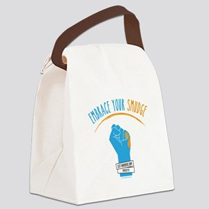 Smudge Blue Canvas Lunch Bag