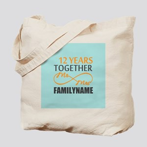 Infinty Mr and Mrs. 12 Yrs Personalized Tote Bag