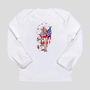 PATRIOTIC GIRL TATTOO ART Long Sleeve T-Shirt