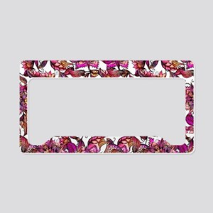 Bright watercolor floral mand License Plate Holder