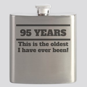 95 Years Oldest I Have Ever Been Flask