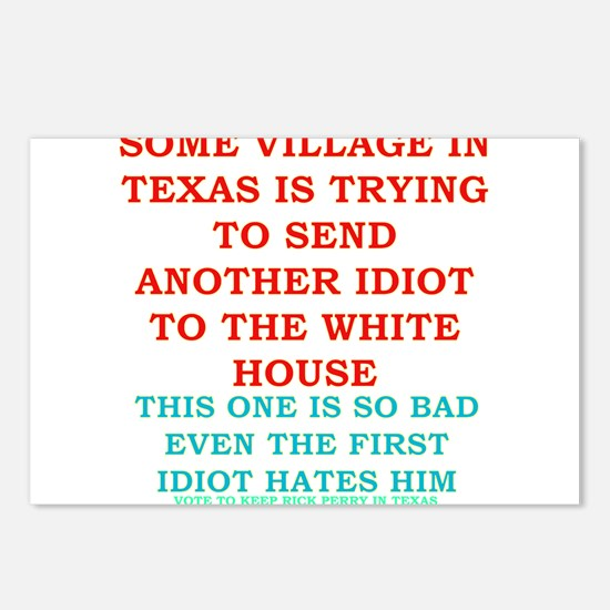 Rick-Perry-village-idiot- Postcards (Package of 8)