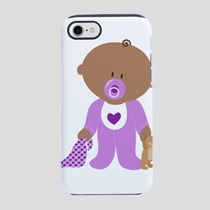 Cute Baby in Purple iPhone 8/7 Tough Case