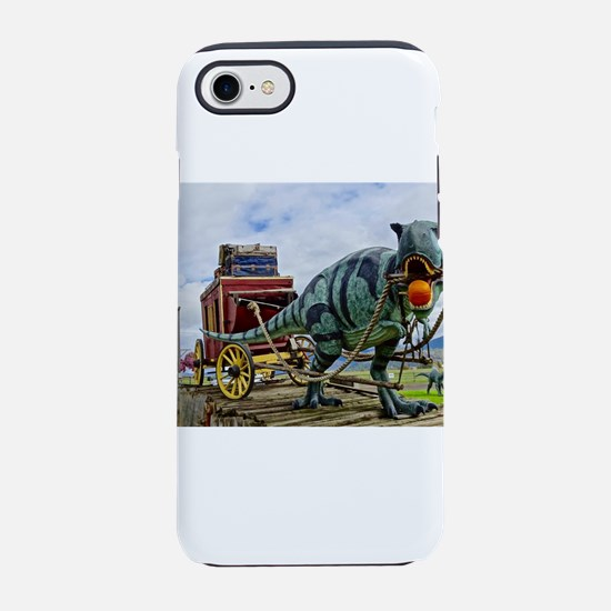 T-Rex Pulling Stage Coach iPhone 8/7 Tough Case