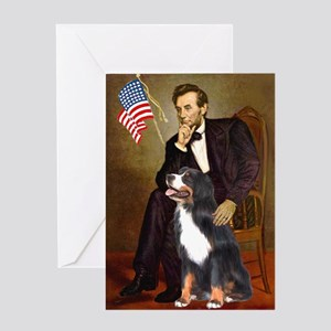 Lincoln & His Bernese Greeting Card