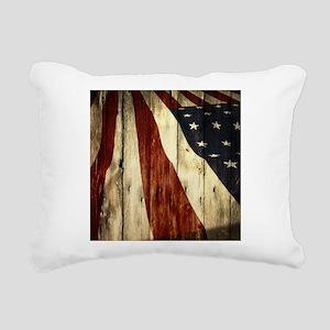 wood grain USA American Rectangular Canvas Pillow