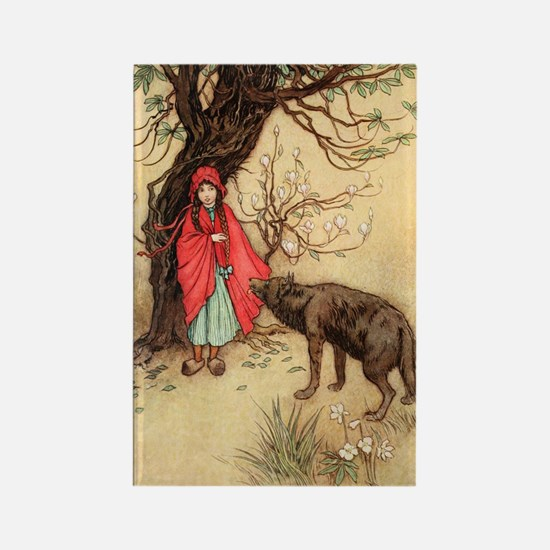 Cool Little red riding hood Rectangle Magnet
