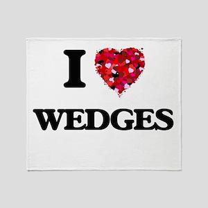I love Wedges Throw Blanket