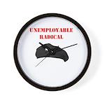 Unemployable Radical Wall Clock