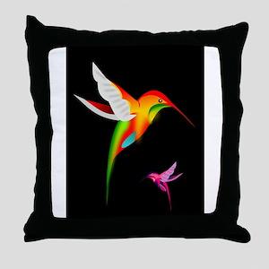 Beautiful_Hummingbirds Throw Pillow