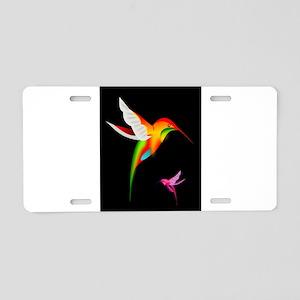 Beautiful_Hummingbirds Aluminum License Plate