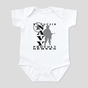 Cousin Proudly Serves - NAVY Infant Bodysuit