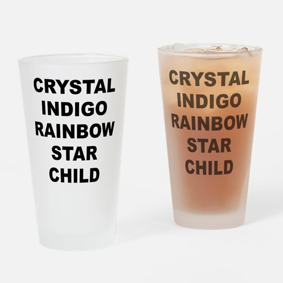 Crystal Indigo Rainbow Star Child Drinking Glass