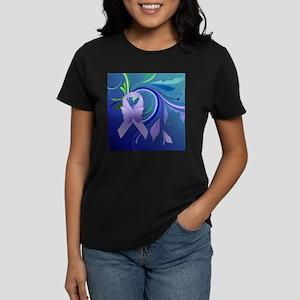 Purple Awareness Ribbon Women's Dark T-Shirt