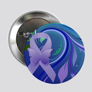 "Purple Awareness Ribbon 2.25"" Button (10 pack)"