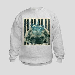 cute puppy pug Kids Sweatshirt
