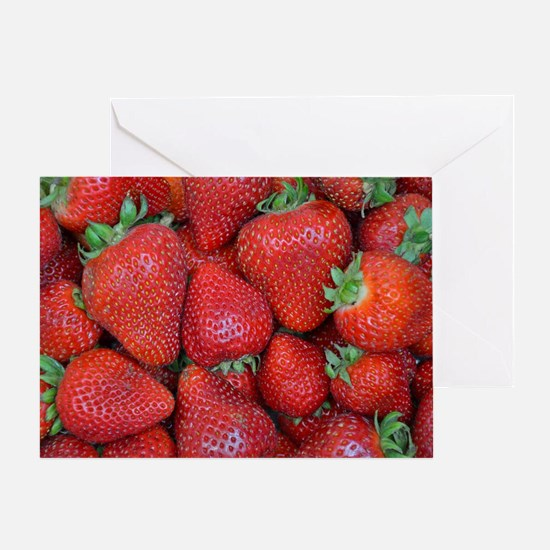 Unique Strawberries Greeting Card