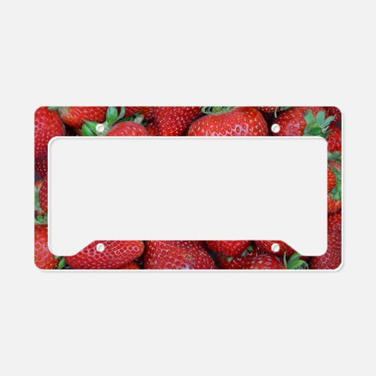 Cute Strawberry License Plate Holder