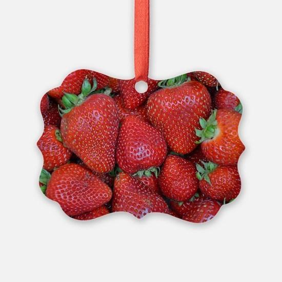 Cute Strawberries Ornament