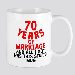 70 Years Of Marriage Mugs
