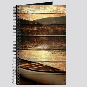 rustic country lake canoe Journal