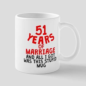 51 Years Of Marriage Mugs