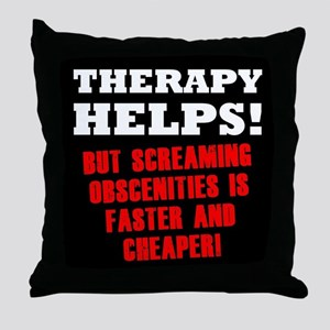 THERAPY HELPS Throw Pillow