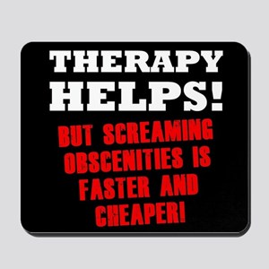 THERAPY HELPS Mousepad