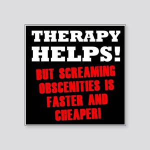 "THERAPY HELPS Square Sticker 3"" x 3"""