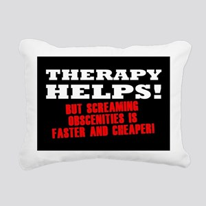 THERAPY HELPS Rectangular Canvas Pillow