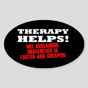 THERAPY HELPS Sticker (Oval)