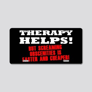 THERAPY HELPS Aluminum License Plate