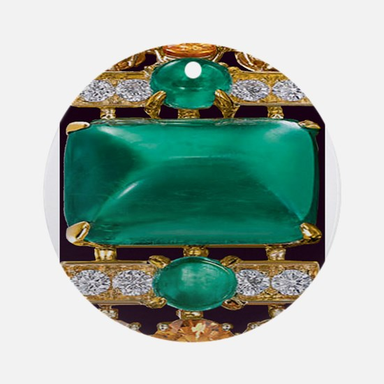 emerald_and_gold_art Ornament (Round)